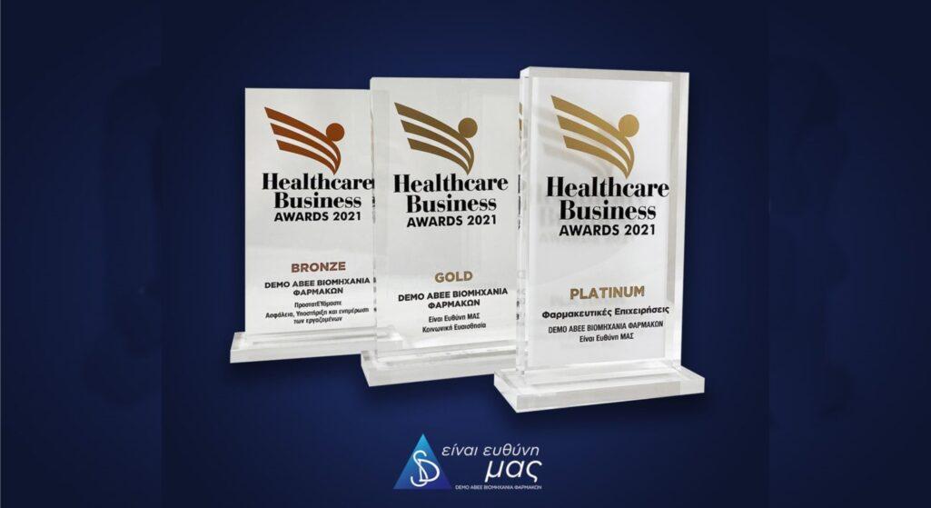 Τρία βραβεία ήταν ο απολογισμός για την εταιρεία DEMO ABEE στην τελετή απονομής των βραβείων Healthcare Business Awards 2021, που πραγματοποιήθηκε τη Δευτέρα, 20 Σεπτεμβρίου 2021.