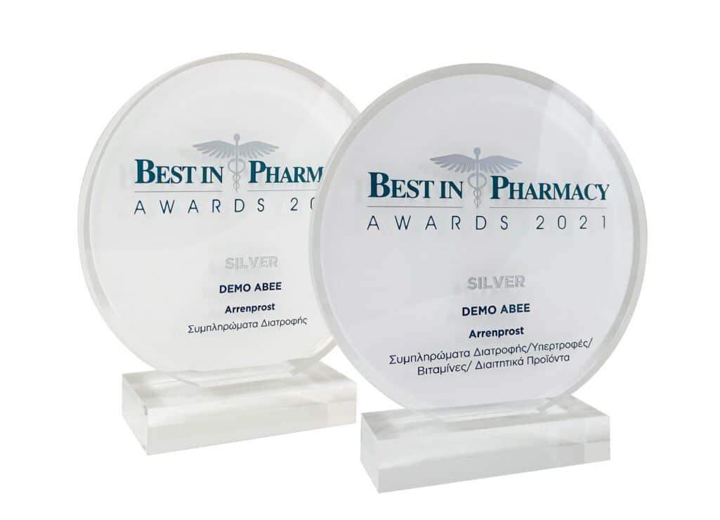 Tο συμπλήρωμα διατροφής Arrenprost της DEMO βραβεύθηκε στα Best in Pharmacy Awards 2021 με δύο πολύ σημαντικά βραβεία.