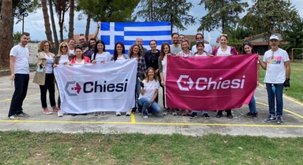 Η Chiesi Hellas, σε συνεργασία με το Δήμο Ιστιαίας-Αιδηψού και με τη στήριξη των εργαζομένων της, θέλησε να δώσει «χρώμα» στο μαύρο τοπίο που άφησαν οι φωτιές του καλοκαιριού στην πολύπαθη Βόρεια Εύβοια